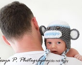 Download PDF crochet pattern 010 - Sock monkey hat - Multiple sizes from newborn through age 4
