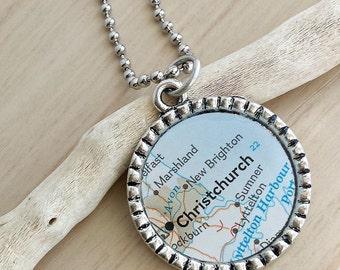Custom Map Necklace
