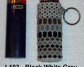 Beaded BIC Classic Lighter Removable Cover Case Keychain Key Chain Glass Seed Beads Your Choice Lots of Colors Gift Ready To Ship