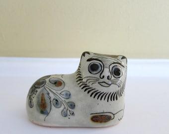 Ken Edwards Cat Figurine - Tonala Mexican Pottery