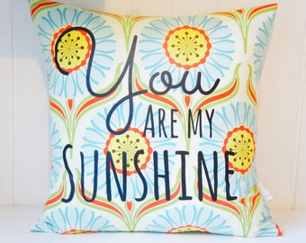 You are my Sunshine Pillow Cover, 20x20, Daisy chain