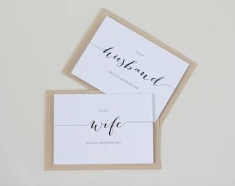 Personalised wedding cards | custom made ||  Husband, Wife, Partner