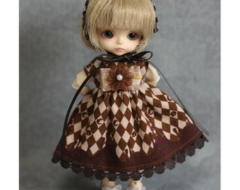 for Tiny BJD -Puki Puki, Lati White, Obitsu11 - Choco Rhombus