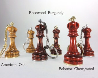 Custom Engraved King Chess Piece Keychain