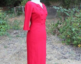 1950s Wiggle Dress Size Small