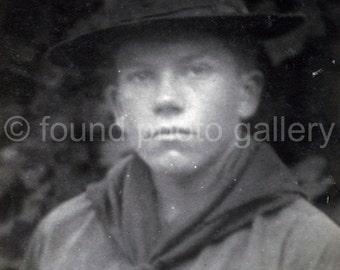 Vintage// Black and White//Photo //Boy Scout//  Old Photo// Antique Photo                        133215-Ph-Boys-019