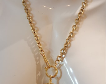 Huge Authentic Chanel Nautical Rope Pendant Necklace