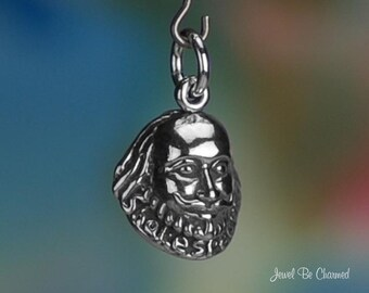 Shakespeare Charm Sterling Silver Theater Playwright England Bard .925