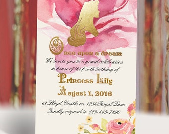 Princess Aurora Sleeping Beauty Birthday Invitation DIY