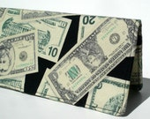 Checkbook Cover, Money, Gift For Him, Fabric, Checkbook Holder, Accessories, Wallet, Checkbook, Gift Under 15, Money