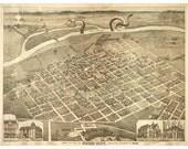 Boise Idaho, Digital Print, Monster Art, Idaho Art, Cthulhu, Tentacle, Sci Fi Art, Vintage Map, Alternate Histories, Geekery