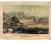 Utah Art, Digital Print, Monster Art, Sci Fi Art, Landscape Print, geekery, Alternate Histories, Utah