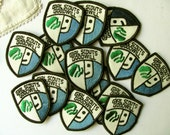 Vintage Girl Scouts Badge Scouting Merit Badge Patch Goodwill Service NOS Authentic Scouts Badge Woven Colorful GSA Collection Scout Pin