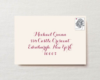 Wedding / Party Invitation Envelope Name and Address Printing (Including Envelopes)
