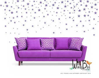 Vinyl wall decal star shapes - wall stickers - nursery, baby, boys, girls - gold decal