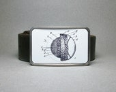 Belt Buckle Baseball Vintage Patent Unique Gift for Men or Women