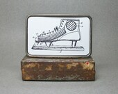 Belt Buckle Ice Skate Hockey Vintage Patent Unique Gift for Men or Women