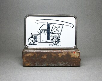 Belt Buckle Tent Canoe Old Car Patent Unique Gift for Men or Women