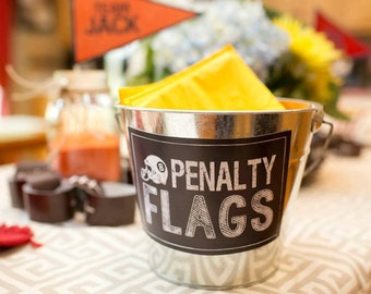 Penalty Flags Printable Sign INSTANT DOWNLOAD by Beth Kruse Custom Creations