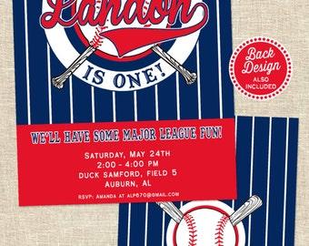 Baseball Birthday Invitation | Baseball Party Invitation Printable | Baseball Invite | Sports Invitation | 1st Birthday | Amanda's Parties