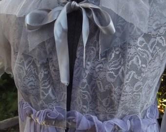 Sheer Lavender Fairy Princess Jacket With Satin Trim