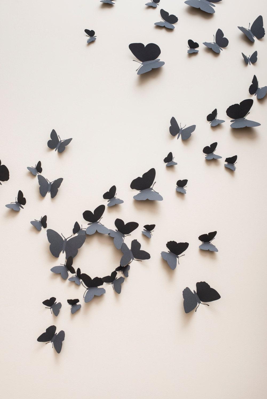 papillons de mur 3d stickers muraux 3d papillons papillons. Black Bedroom Furniture Sets. Home Design Ideas