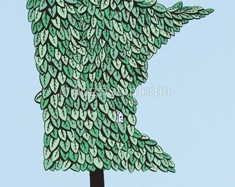 MN Grown - Summer | Minnesota Tree Screenprint Poster