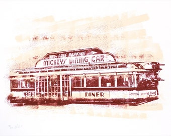 St. Paul Screen Print Poster - Mickey's Diner
