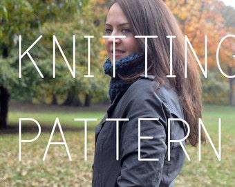 Knitting Pattern - Simple Neck Cowl - Easy - Beginner