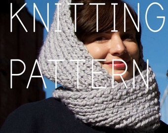 Knitting Pattern Infinity Scarf - Easy/Intermediate