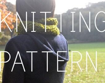 Knitting Pattern Twist Neck Cowl - Easy/Intermediate - Digital Download