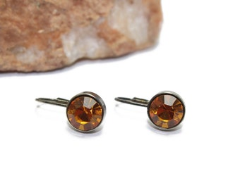 Topaz Swarovski Crystal Earrings