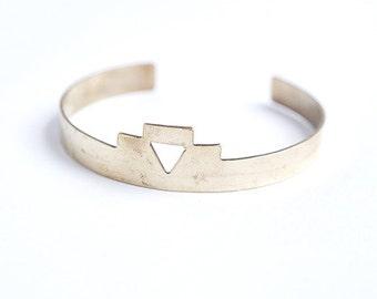 N O M A D  Handcut Geometric Brass Triangle Cuff