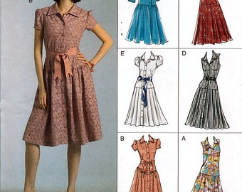 Vogue Easy Options V8352 Misses' Dress Sewing Pattern - Uncut - Size 6, 8, 10, 12