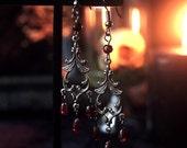 Lady Vampiria Earrings 2 3/4 inches