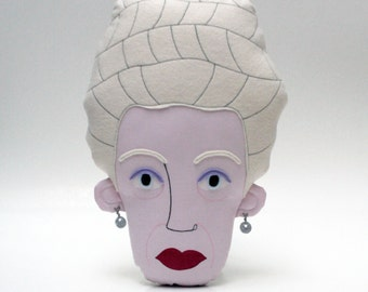 Madame D. (Grand Budapest Hotel, Wes Anderson) Pillow Face - MADE TO ORDER