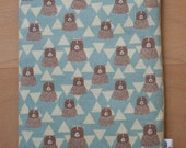 Triangle Bear iPad Case Sleeve Pouch iPad Mini, iPad Air - also for Nexus, Kindle, Acer, Dell, LG