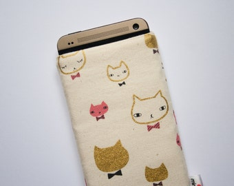 Bow Tie Cats Case iPhone 5 5s, 6 6s, 6 Plus 6s Plus, iPod Classic, HTC One M9, LG G4, Samsung Galaxy S6 Edge, Sony Xperia Z5, Nexus 6 Sleeve