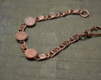 1960s Copper Coin Bracelet