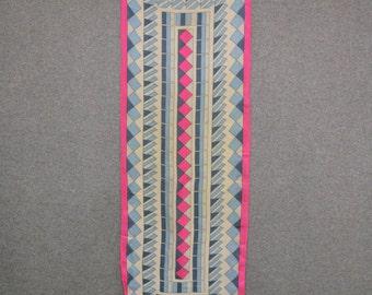 1960s Geometric Chiffon Scarf