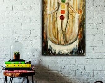 Giclée Art Print - Chakra Painting - Chakra Goddess - Large Art Print