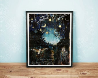 Original Artwork - Mixed Media Painting - Astrology Art - Owl Medicine