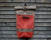 Children's backpack / childeren's waxed canvas rucksack / children's waterproof backpack