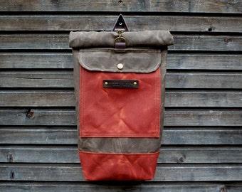 Children's backpack / childeren's waxed canvas rucksack / children's waterproof backpack