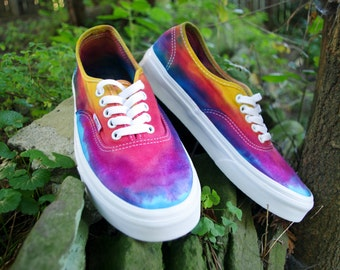 Tie Dye Shoes SUNRISE Hand Dyed Vans Sneakers || MADE to ORDER