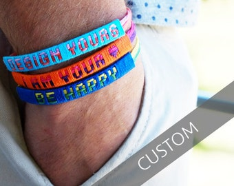 3 COLOR Customized Friendship Bracelet