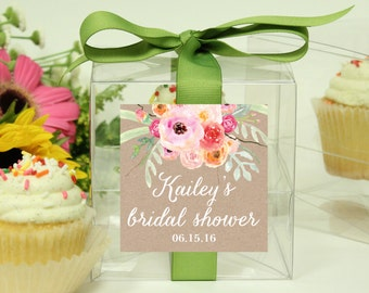 8 - Bridal Shower Favor Cupcake Boxes - Bouquet Label Design // Bridal Shower Favor // Bridal Shower Favor Box // Personalized Bridal Shower