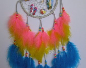 SUMMER SPECIAL! Surf & Summer Theme Dream Catcher- 7 inch