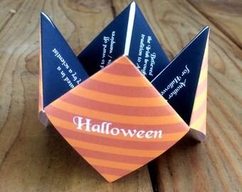 Halloween Cootie Catcher, Halloween, Halloween DIY, Halloween Party, Kids Halloween, Halloween Favor, Halloween Invitation, Halloween Decor