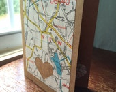 I love Newtown CT 06470 - 1 blank handmade greeting card